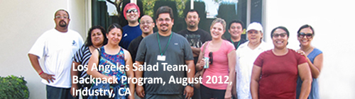 Los Angeles Salad Team Backpack program