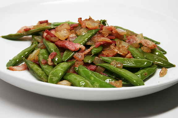 Sugar Snaps with Bacon