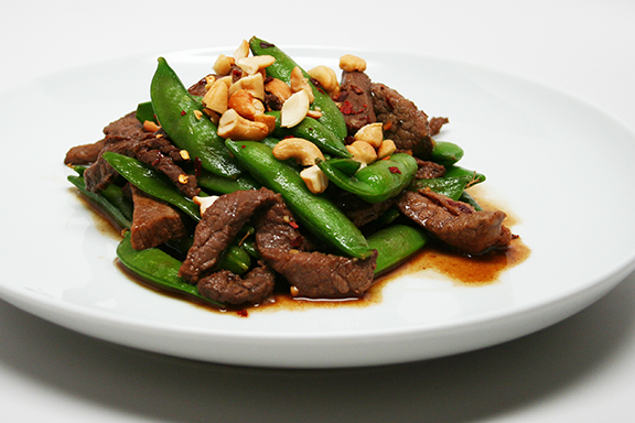 Sugar Snap Peas with Beef